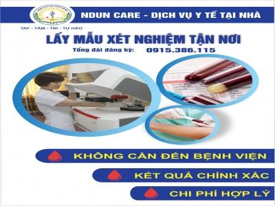 Dịch vụ xét nghiệm tại nhà Nduncare